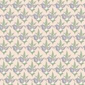 Sömlös blommig vektor mönster, tapeter, vektor bakgrund — Stockvektor