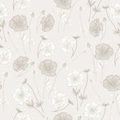 Romantic Flower Background seamless retro floral pattern — 图库矢量图片