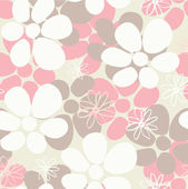 Romantic Flower Background seamless retro floral pattern — Stock Vector