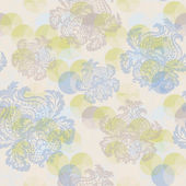 Seamless pattern with flowers Wallpaper, background. — Stockvektor