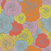 Seamless pattern with flowers roses Wallpaper, background. — Stock Vector