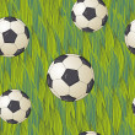 Seamless football wallpaper soccer on grass background — Stock Vector #26776651