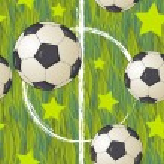 Seamless football wallpaper soccer on grass background — Stock Vector