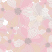 Romantic Flower Background — Stok Vektör