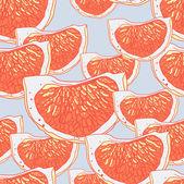 Abstrakte tropischen muster mit orangen — Stockvektor