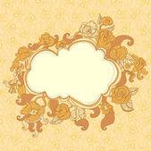 Floral frame background — Stock Vector