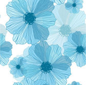 浪漫的花背景无缝复古花卉图案 — 图库矢量图片