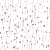 Background with line and hearts pattern wallpaper — Stock Vector