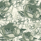 Romantické květinové vinobraní bezešvé retro květinový vzorek pozadí — Stock vektor