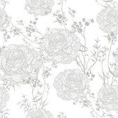 Romantische vintage hintergrund seamless retro floral blumenmuster — Stockvektor
