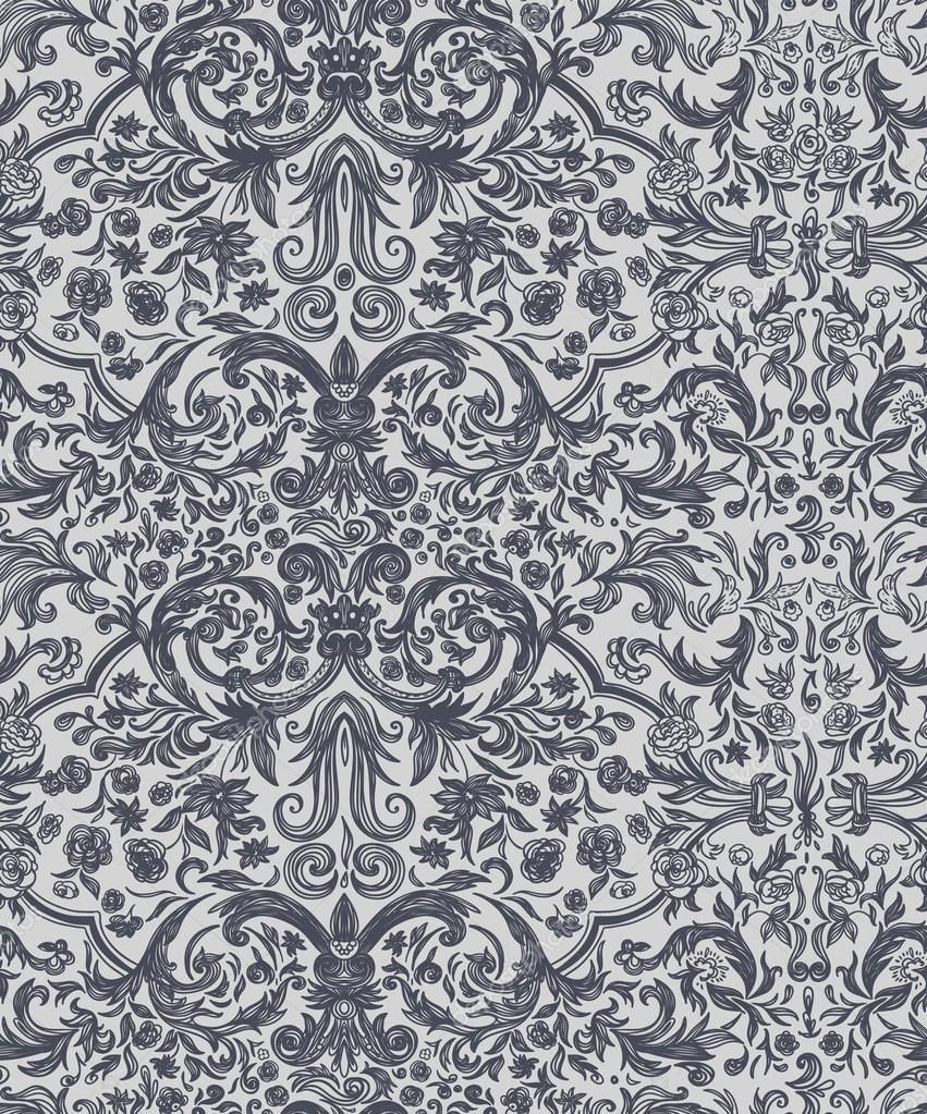 sans couture vintage fond motif baroque image. Black Bedroom Furniture Sets. Home Design Ideas