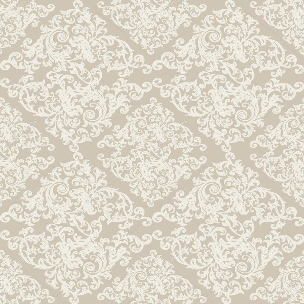 Barock Tapeten Retro Design Tapete : Nahtlose Vintage Hintergrund, Barock-Muster ? Stockvektor ? Depiano