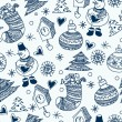 Christmas seamless pattern, wallpaper — Stock Vector #26967503