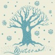 Vektor Baum Winter background — Vektorgrafik