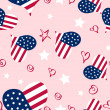 Memorial Day texture pattern — Stockvektor
