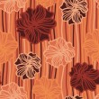 Seamless texture with flowers on a striped background — Stockvectorbeeld