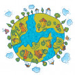 Green world. Ecology — Vector de stock