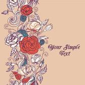 Fundo floral com rosas — Vetorial Stock