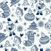 Jul seamless mönster, tapeter — Stockvektor