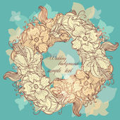 Stylish floral circle — Stock Vector