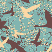 Abstract pattern with birds — Stock Vector