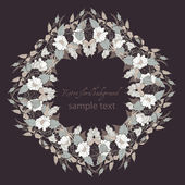 Stylish floral circle — Vector de stock