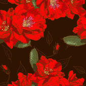 Schöne nahtlose blümchenmuster — Stockvektor