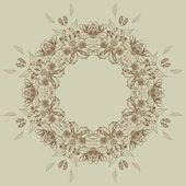 Cadre floral avec roses — Vecteur
