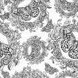 Floral seamless pattern, endless texture with flowers.  — Stockvektor