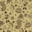 Christmas seamless pattern, wallpaper — Stock Vector #27215841