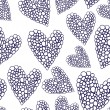 Valentine seamless hearts pattern Wallpaper, background with hearts — Stock Vector