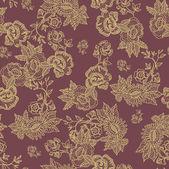 Beautiful Seamless flowers pattern romantic floral wallpaper — Stockvector