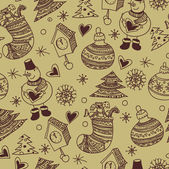 Christmas seamless pattern, wallpaper — Stok Vektör