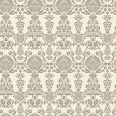 Seamless vintage background Vector background for textile design. Wallpaper, background, baroque pattern — Stock Vector