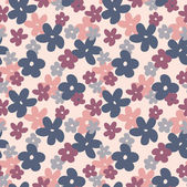 Romantic Flower Background seamless retro floral pattern — Vector de stock