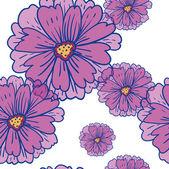 Romantischen hintergrund seamless retro floral blumenmuster — Stockvektor
