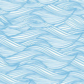 Seamless abstract hand-drawn pattern, waves background vintage — Stock Vector