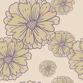 Motivi floreali retrò senza giunte di fiore romantico sfondo — Vettoriale Stock