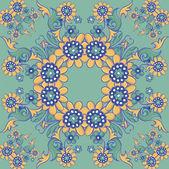Naadloze vintage achtergrond vector achtergrond voor textielontwerp. wallpaper, achtergrond, barokke patroon — Stockvector