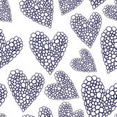 Valentine seamless hearts pattern Wallpaper, background with hearts — Vetor de Stock