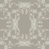 Seamless vintage background Vector background for textile design. Wallpaper, background, baroque pattern — Stock Vector