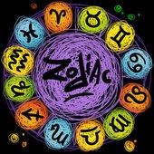 Vector astrological icon set — Stock Vector
