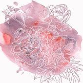 Aquarelle floral abstrait — Vecteur