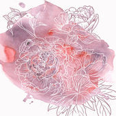 Watercolor Floral Abstract Background — ストックベクタ