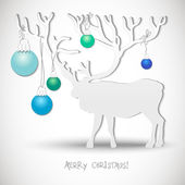 New year card with Christmas Reindeer — Stock Vector