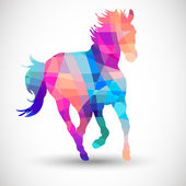 Abstract horse of geometric shapes — Wektor stockowy