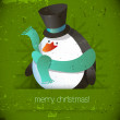 Christmas penguin — Stock Vector #29570909