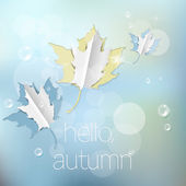 Autumn abstract nature background — Stock vektor