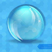 Glass glossy sphere — Stock Vector