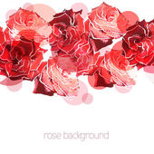 Rose background. Floral abstract pattern — Stock Vector